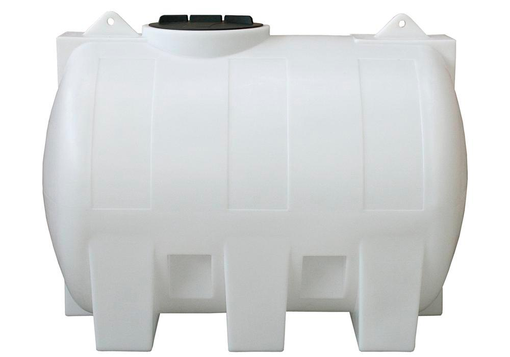 Tank af polyethylen (PE), 1500 liters volumen, transparent
