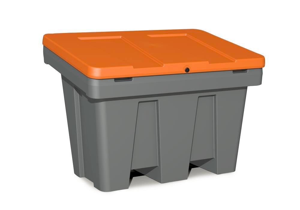 Sandbeholder GB 300 af polyethylen (PE), 300 liters volumen, orange låg